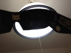 金環日食めがねの遮光性テスト