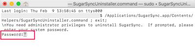SugarSyncUninstaller